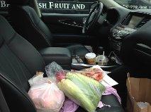 fruit in car