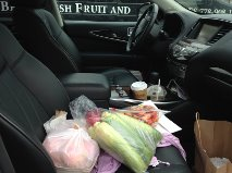 fruit in car