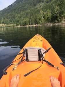 kayak with feet