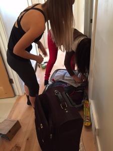 girls packing