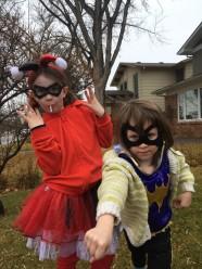 bat girl and harley quinn